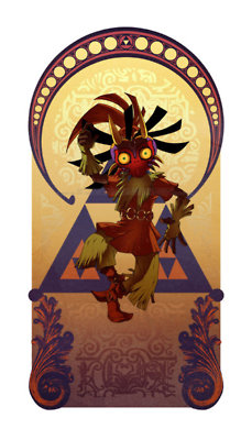 The Legend of Zelda wallpaper possibly with a sign titled Skull Kid