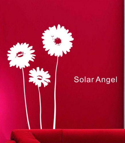 Solar Энджел Sunflower Стена Sticker