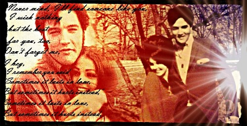 Elvis & Priscilla Presley wallpaper possibly containing anime called Someone like you ... ♥