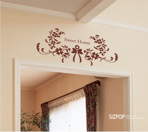 Sweet Home Flower Wall Sticker