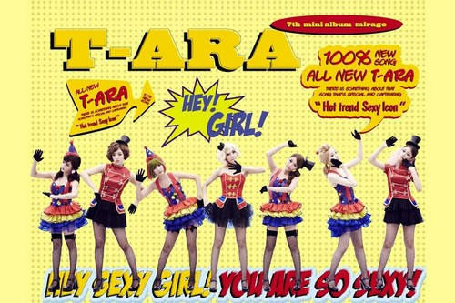 T-ARA (Tiara) achtergrond possibly containing anime called T-ARA SEXY LOVE