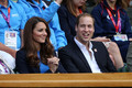 The Duke of Cambridge take in a day of Tennis at Wimbledon
