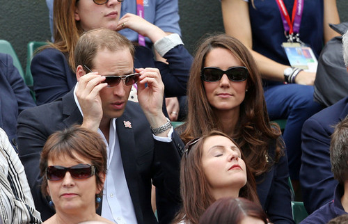 The Duke of Cambridge take in a Tag of Tennis at Wimbledon