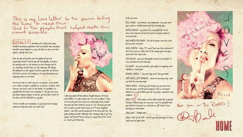 The Truth About Love CD Booklet!