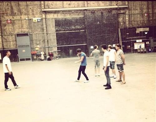 The boys rehearsing for the VMA!