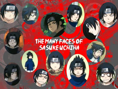 Sasuke Ichiwa fond d'écran titled The many faces of Sasuke