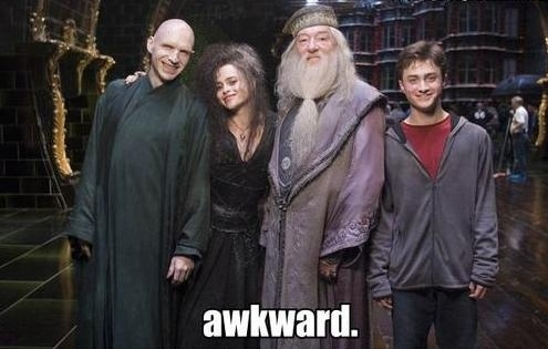 Voldemort, Bellatrix, Dumbledore and Harry<3