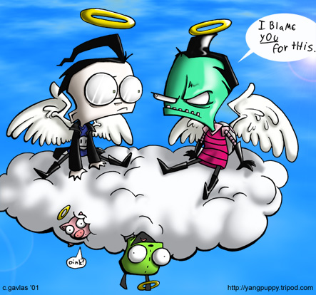 Zim,Gir,and Dib