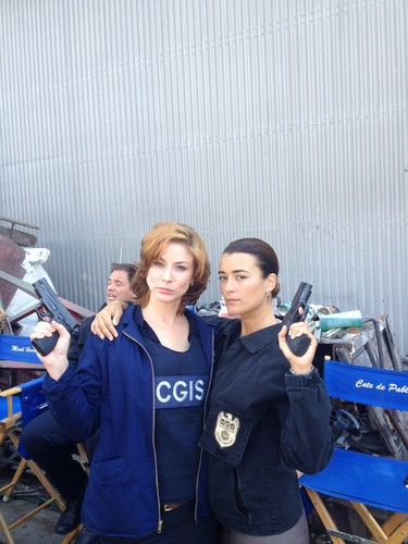 Ziva and Borin BTS pic