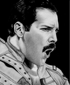 awesome Freddie portrait - freddie-mercury fan art