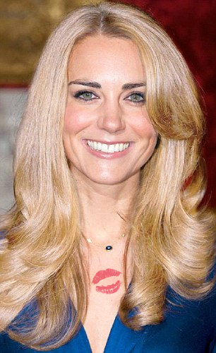 Prinz William Hintergrund with a portrait called blonde kate middleton-