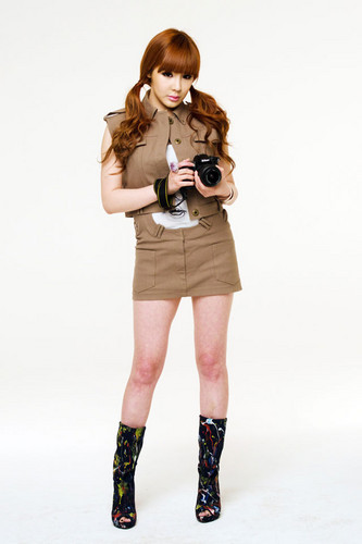 DARA 2NE1 wallpaper with a hip boot called bom 2NE1 nikon