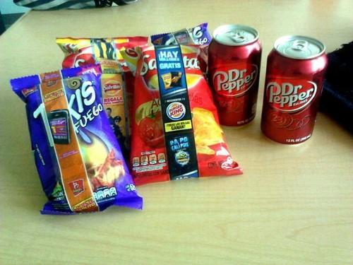 コーラ n chips