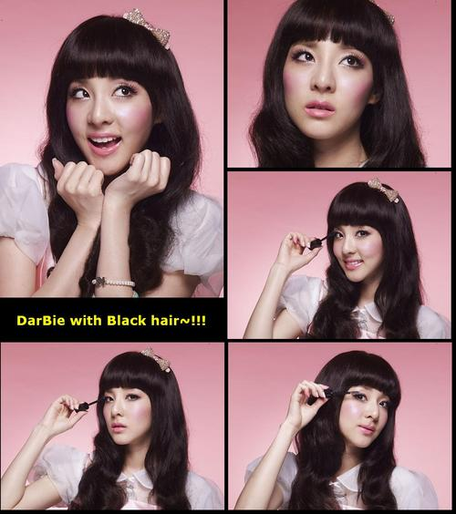 dara 2NE1 darbie black hair