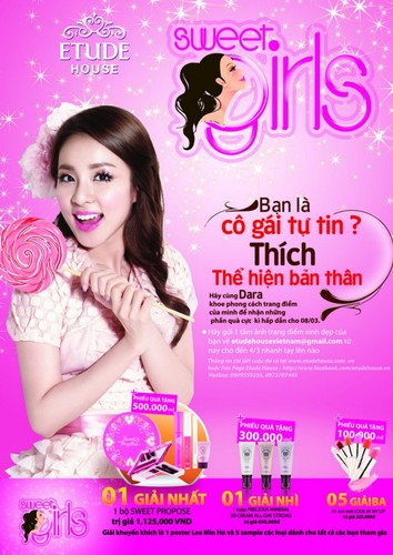 dara 2ne1 sweet girl thai ad