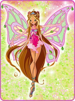 Winx club flora enchantix transformation