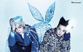gd top big bang duo - dara-2ne1 wallpaper
