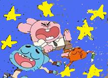 The Amazing World of Gumball wallpaper containing anime called gumball,darwin,richard in space