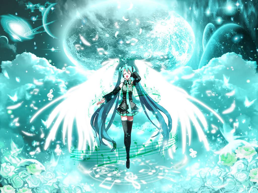 hatsune miku angel wallpapers - photo #5