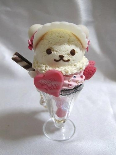 Еда Обои possibly containing an ice cream and an ice cream sundae titled hello kitty icecream