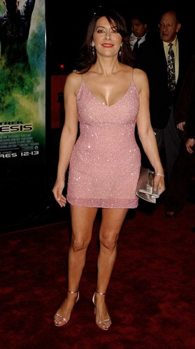 Marina Sirtis wallpaper probably containing tights titled nemesis premiere
