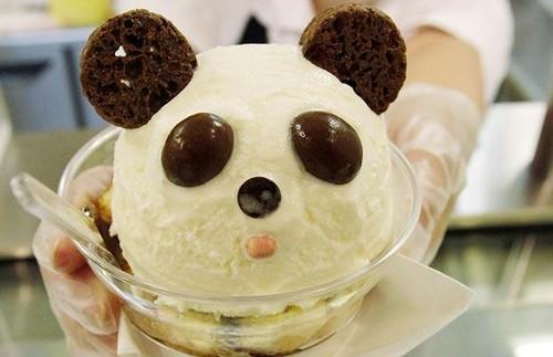 খাবার দেওয়ালপত্র probably containing a tutti frutti called panda-ice-cream