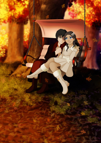Zuko and Katara wallpaper possibly containing a swing entitled zuko and katara lovee <3