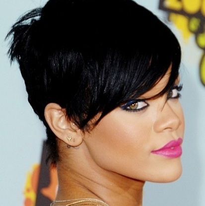 Excellent What Kind Of Rihannas Black Hair Do You Like Most Rihanna Fanpop Short Hairstyles For Black Women Fulllsitofus