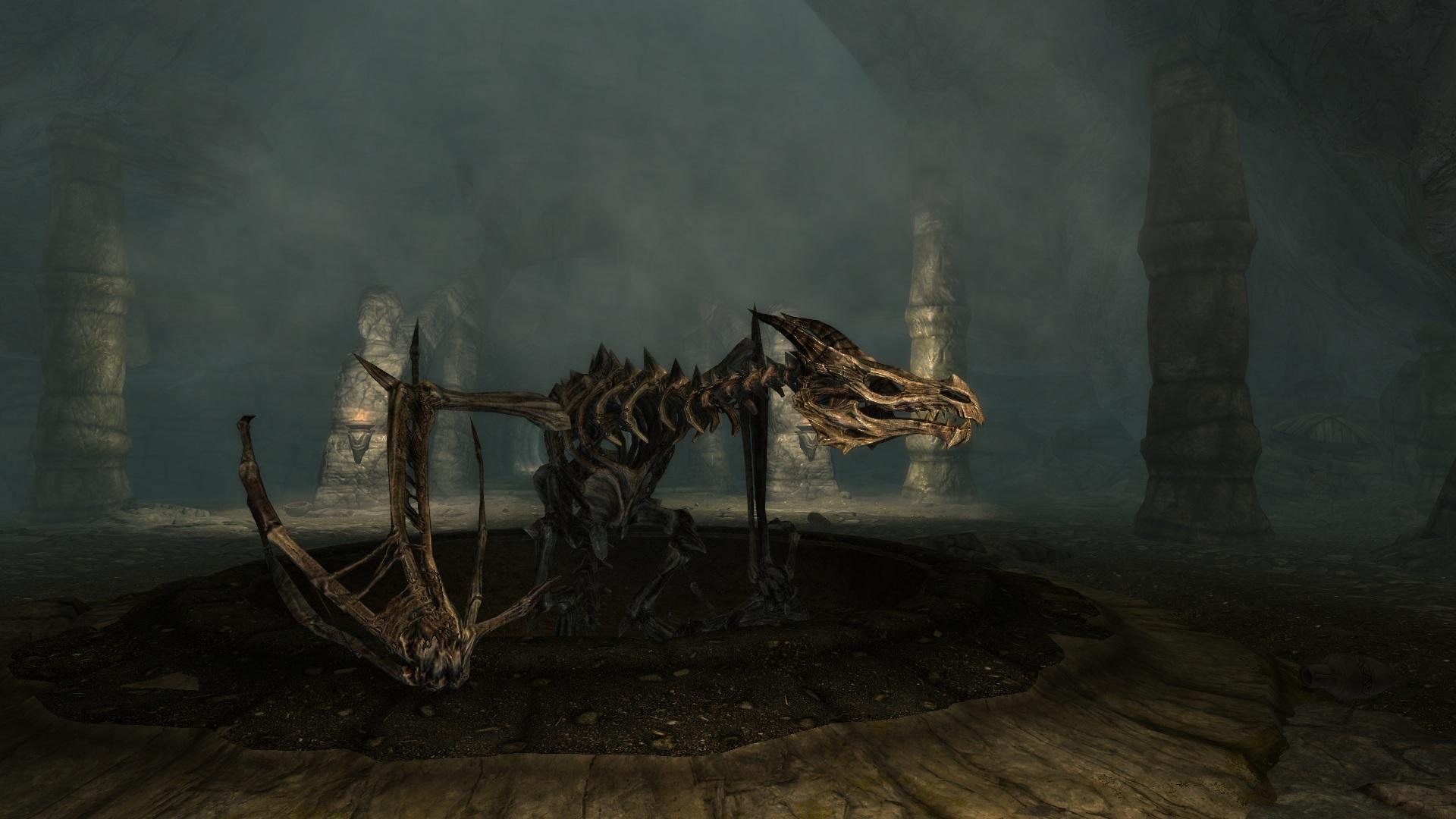 how to kill skeletal dragon skyrim