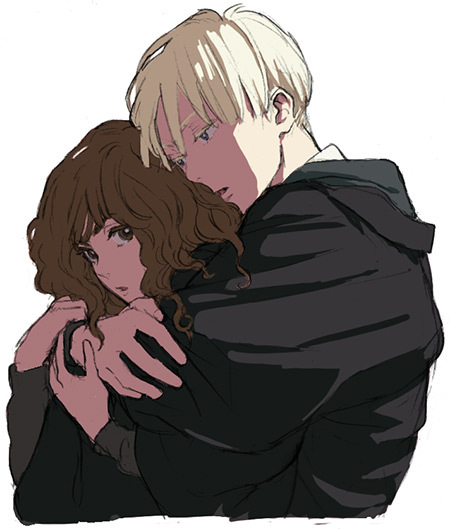 Harry Potter Anime Hermione x Harry Potter Draco And Hermione Anime