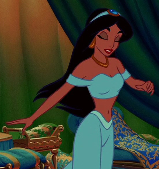 You Princess jasmine with short hair are