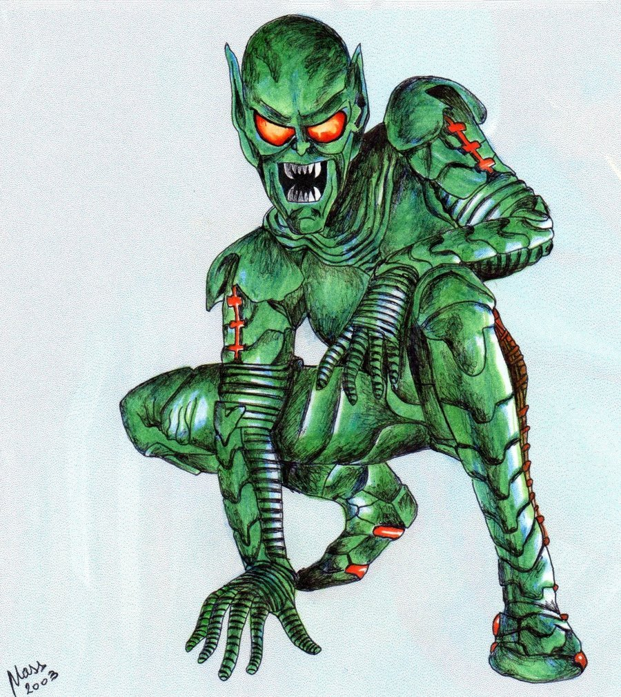 How To Draw The Green Goblin