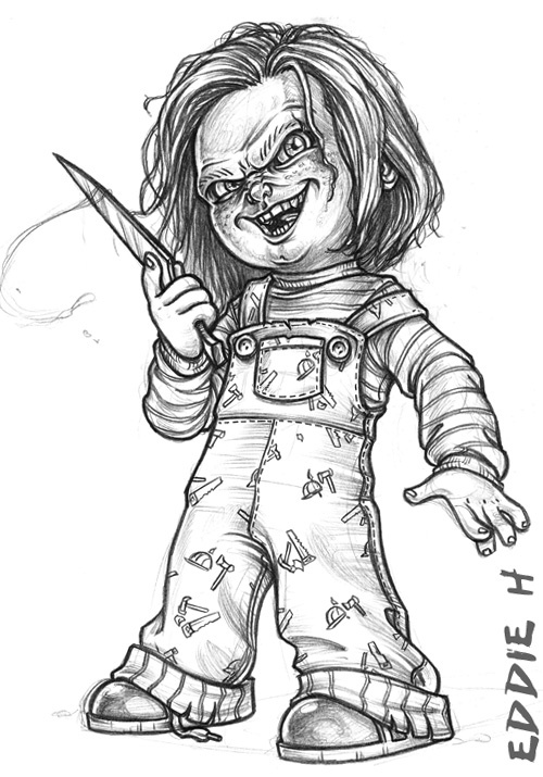 Chucky Coloring Pictures