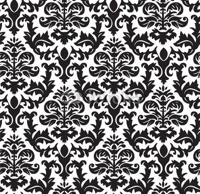 Black and white vintage wallpaper - Papel de pared retro ...