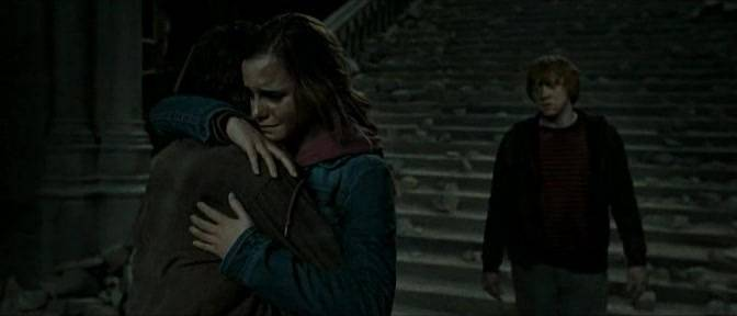 Hermione Hugging Harry Harry And Hermione Which