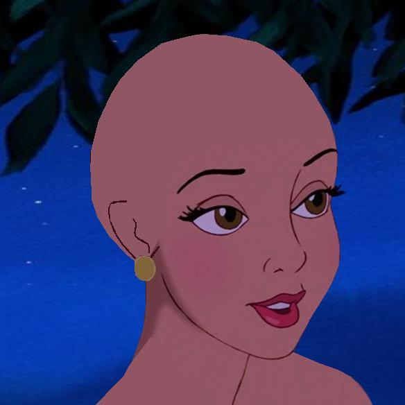 if all the princesses were bald which one would still look pretty