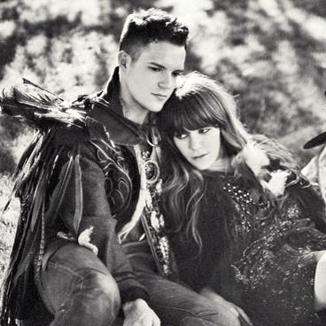 Izabella Miko And Brandon Flowers
