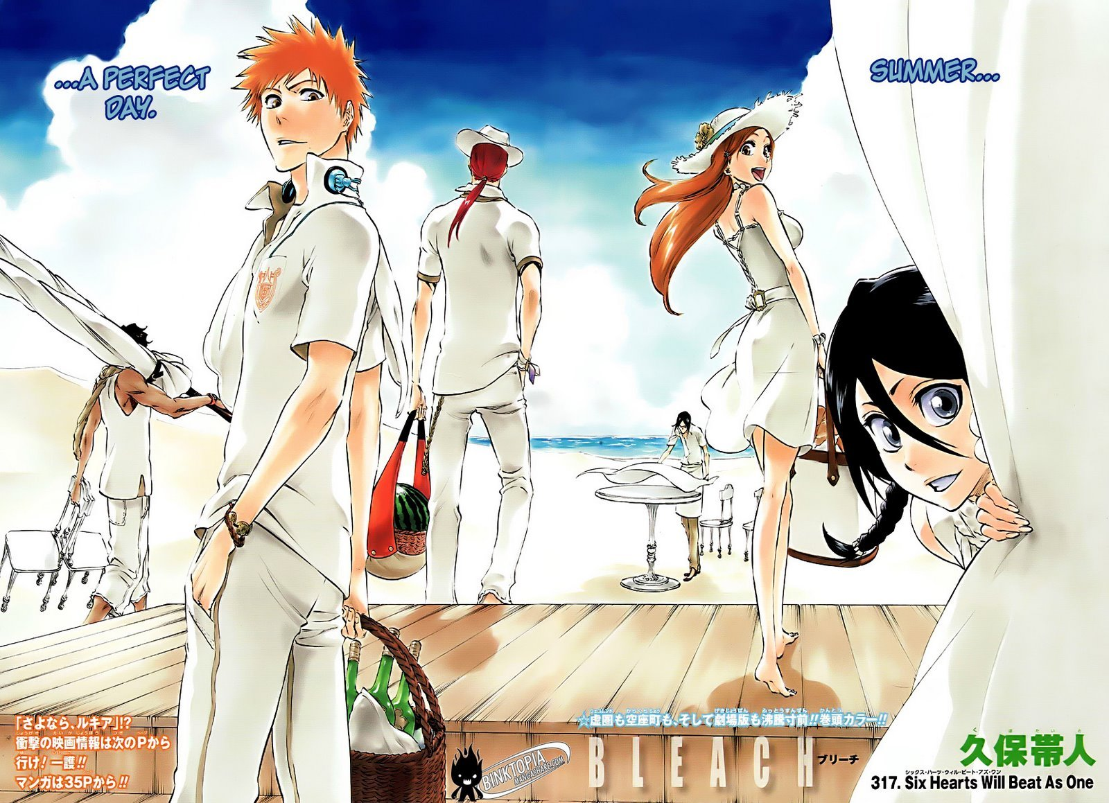 Bleach Manga Color Pages Contest Round 1 Match 7 Poll