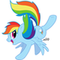 the awesome Rainbow Dash