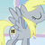 Derpy Hooves (not really since she has had a speaking part)