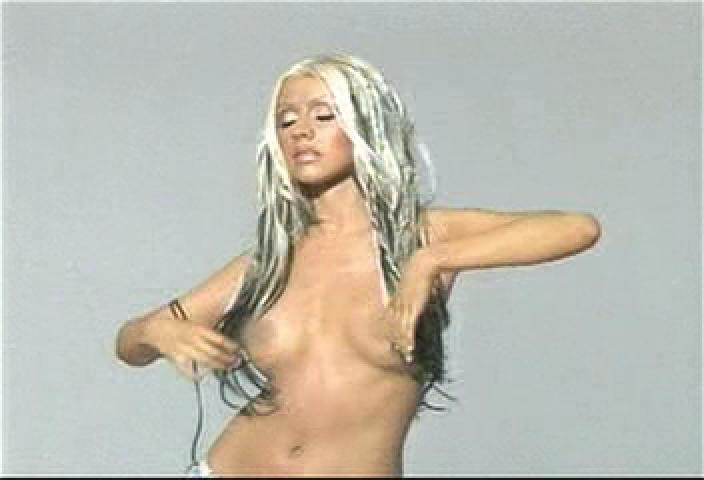 nude Aguilera in christina gq