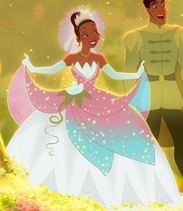 Disney princess outfit color game round 11 green wedding for Princess tiana wedding dress