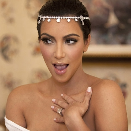 How many wedding dresses did Kim wear on her wedding day?