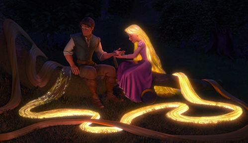 How many times did Rapunzel's hair glow?