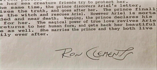 "In Ron Clements 2-page Treatment of ""The Little Mermaid"" the Sea-King had how many Daughters?"