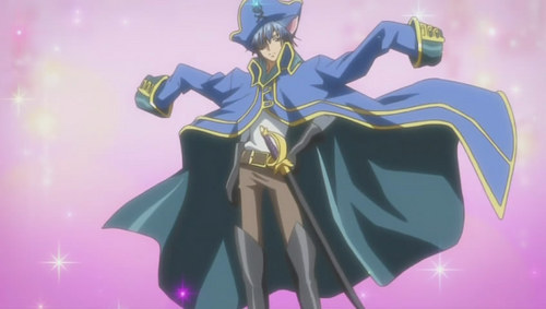 when Ikuto transformed into Seven Seas Treasure: