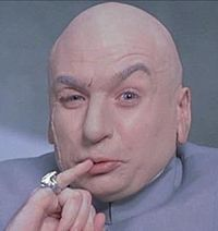 In Goldmember (the third film), Who plays Dr. Evil in the FILM-WITHIN-FILM?