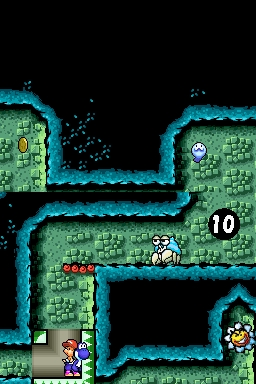 GUESS THE PLACE! - Yoshi starts in a rocky place with water. Then he enters a pipe and has to navigate through an underground sewer