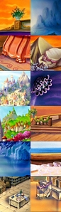 The are the Backgrounds, found in what Disney Movie?
