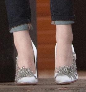 Bella's Fancy Wedding Shoes Are Made bởi Carolina Herrera. True hoặc False?